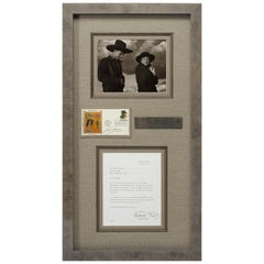 Georgia O'Keeffe Autograph and Ansel Adams Signed Postal Cover and Photograph