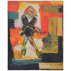 Vibrant Abstract Painting of a Lady