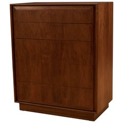 Mid Century Walnut Tall Dresser by Dillingham