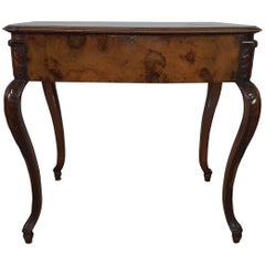 19th Century Italian Louis XV Style Briar Wood Work Table