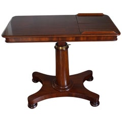Rare Early 1800s Multi Adjustable Mahogany Georgian Reading Table or Side Table