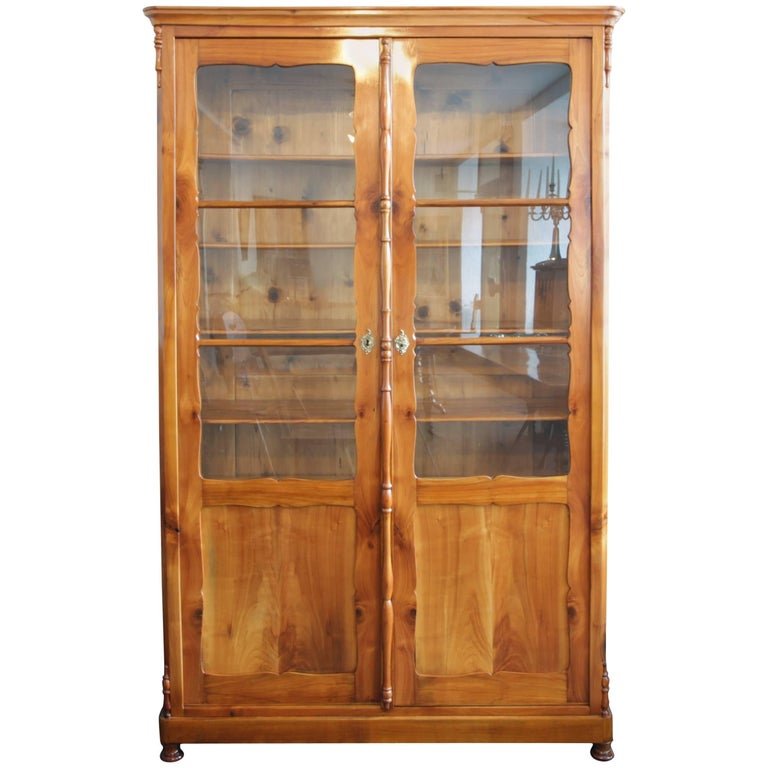 19th Century Late Biedermeier Cherrywood Bookcase from Germany