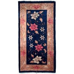 Handmade Antique Chinese Art Deco Rug, 1920s, 1B608