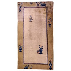 Handmade Antique Chinese Peking Rug, 1900s, 1L14