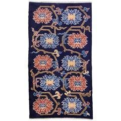 Handmade Antique Tibetan Khaden Rug, 1900s, 1L16