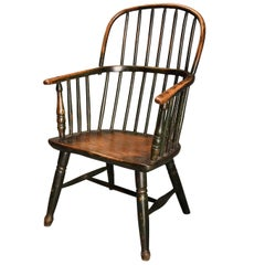 Early 19th Century West Country Ash Hoop Back Windsor Chair