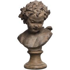 Louis-Claude Vassé, Terracotta Bust of a Young Faun
