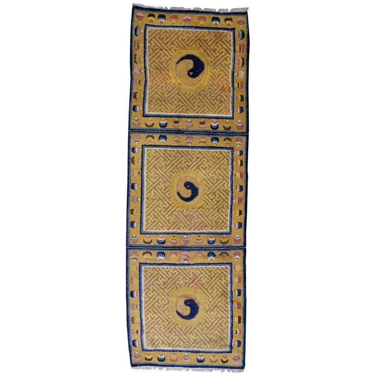 Handmade Antique Collectible Chinese Ningsha Runner, 1880s, 1L18 For Sale