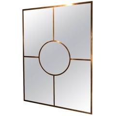 Brass Mirror by Edouard de la Marque