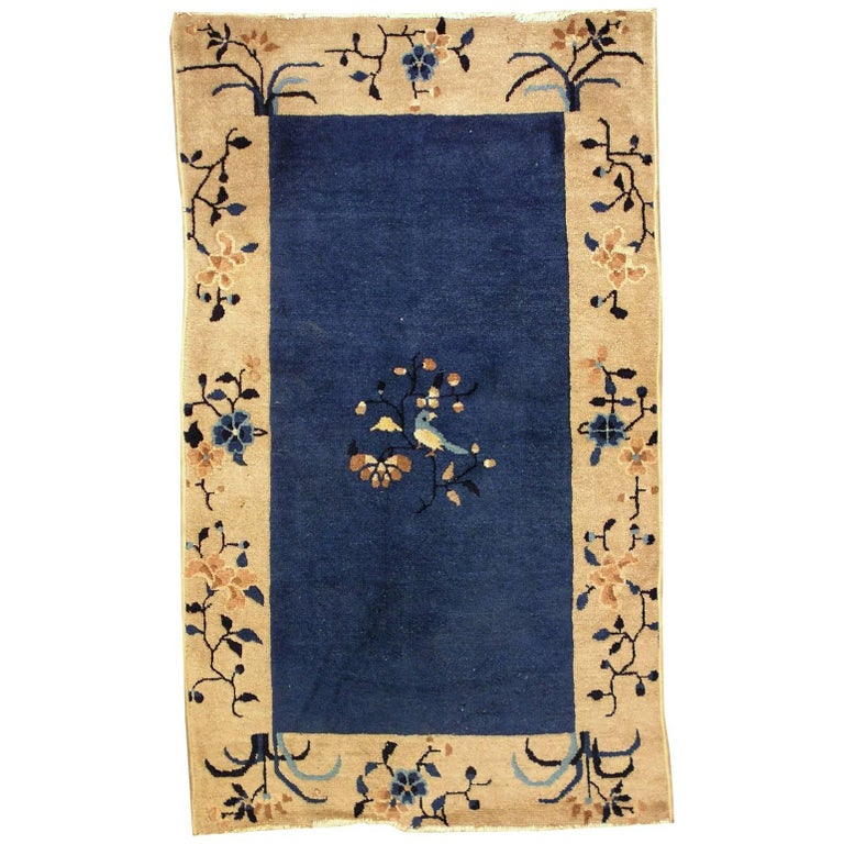 Handmade Antique Chinese Peking Rug, 1900s, 1L19 For Sale