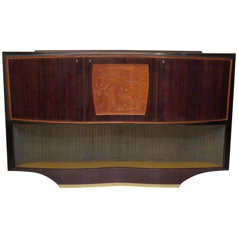 Dassi 1940 Walnut Italian Midcentury Cabinet Buffet