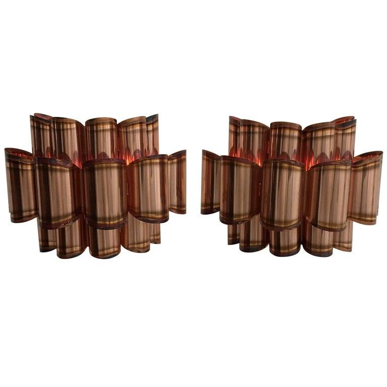 Pair of Danish Midcentury Copper Wall Lights by Verner Schou