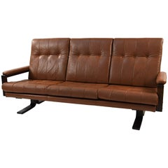 Attributed to Arne Norrell Danish Leather Sofa