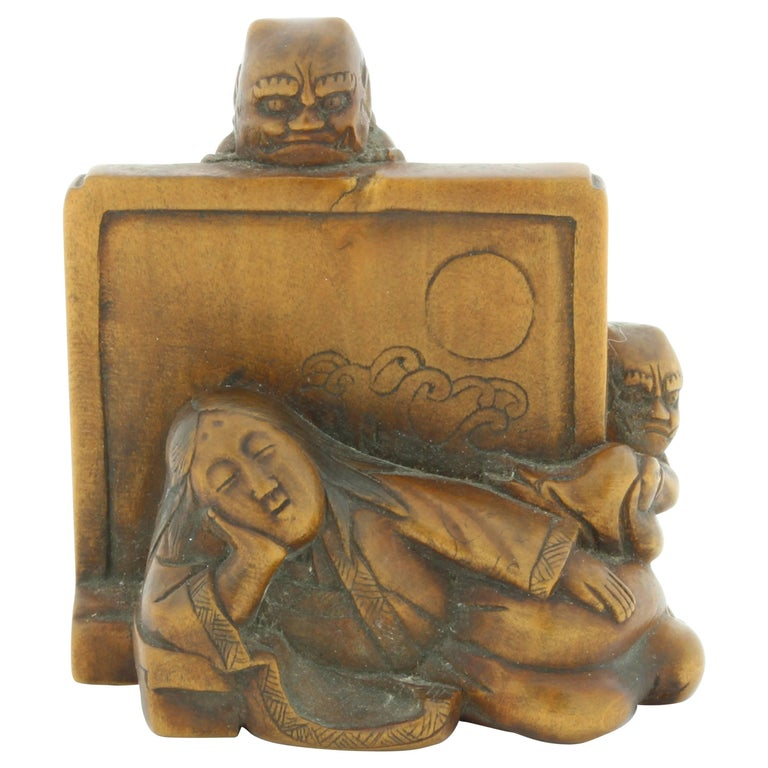 Netsuke, Wood, Accessory, Fashion, 19th Century, Antique, Woodcraft, Artisan