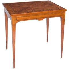 French Classicist Rosewood Game Table