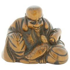 Netsuke, Wood, Accessory, Fashion, 19th Century, Antique, Woodcraft, Charm