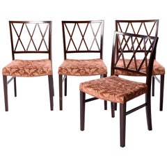 Ole Wanscher Set of Four Mahogany Dining Chairs for A. J. Iversen