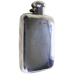 Silver Hallmarked Hip or Pocket Flask, 1906