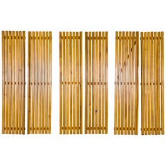 Set of Three Pairs of Charlotte Perriand Slat Doors, circa 1950, France