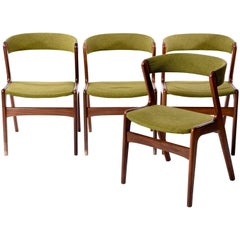 Set of Four Oman Jr. Danish Teak Side Chairs