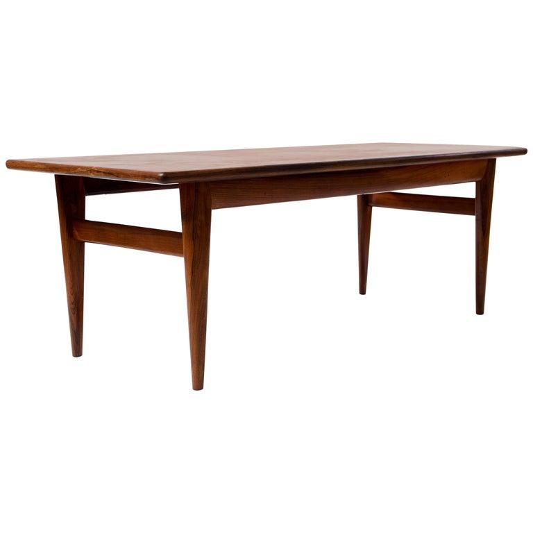Danish Rosewood Coffee Table by Johannes Andersen for Wikkelsø