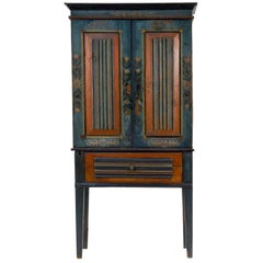 Antique Swedish Painted Cupboard, circa 1837