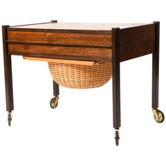 Danish Rosewood Sewing or Side Table