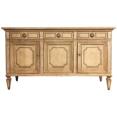 Late 18th Century Neoclassical Italian Credenza in Painted Poplar Wood