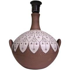 Ulla Winblad for Alingsås Ceramics Scandinavian Midcentury Handmade Lamp, 1960s