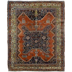 Handmade Antique Persian Malayer Mishan Rug, 1900s