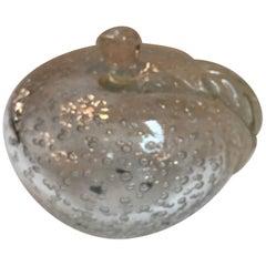 Italian Murano Glass Apple Sculpture