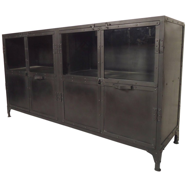 Metal Black Kitchen Cabinets: Black Metal Console For Sale At 1stdibs