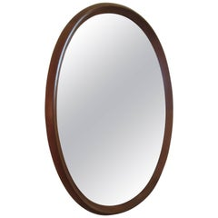 Pedersen and Hansen Oval Teak Mirror
