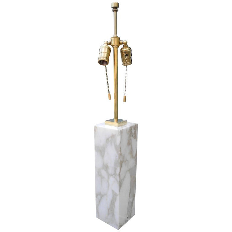Modern Brass and Marble Table Lamp by T.H. Robsjohn-Gibbings