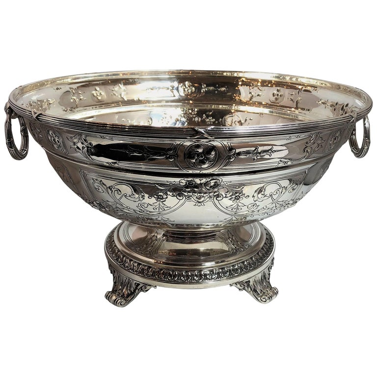 Antique Sterling Silver American Gorham Punch Bowl Centrepiece, circa 1890-1900