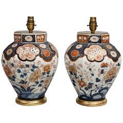 Antique Pair of Imari Vase Lamps, circa 1840
