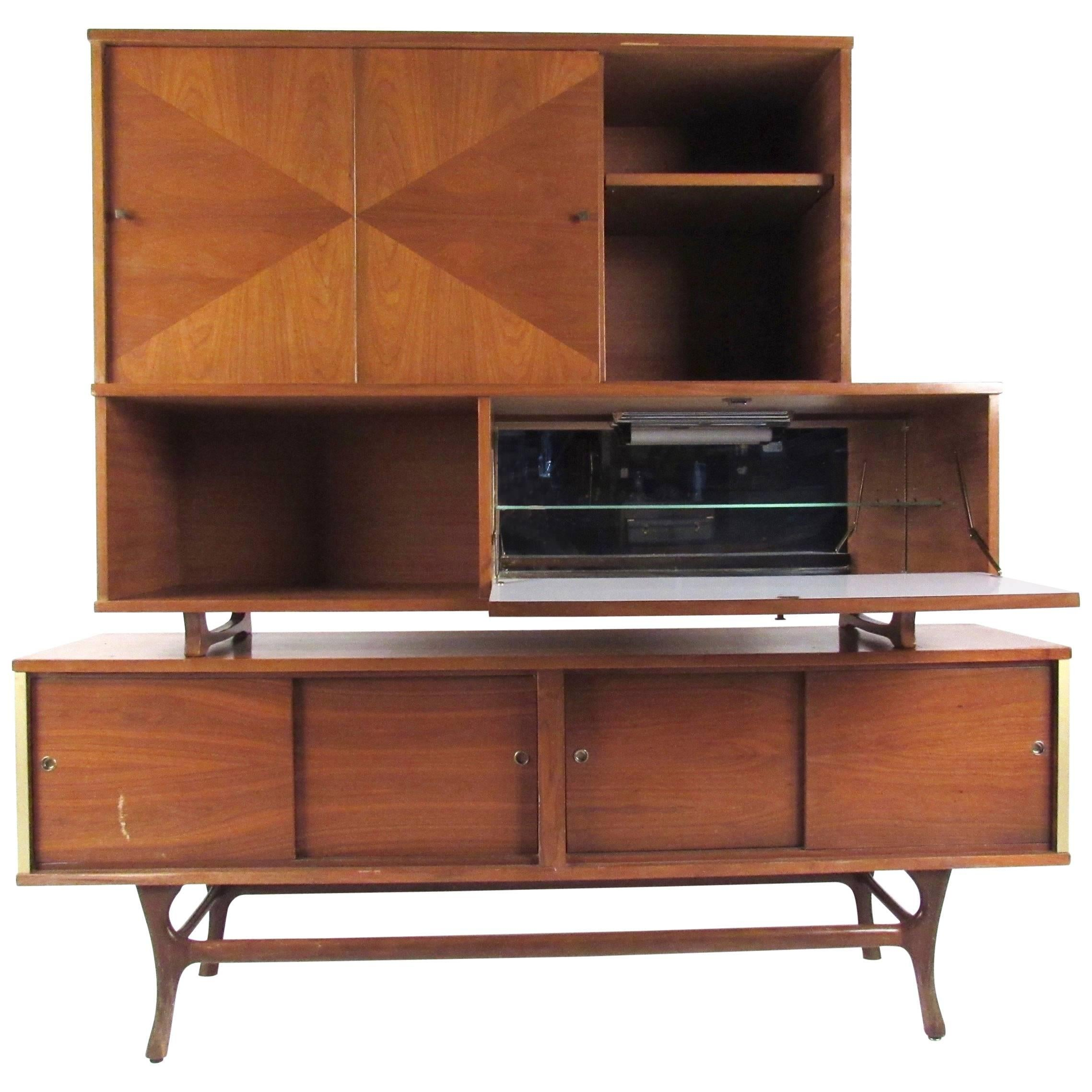 Mid-Century Modern Sideboard with Dry Bar