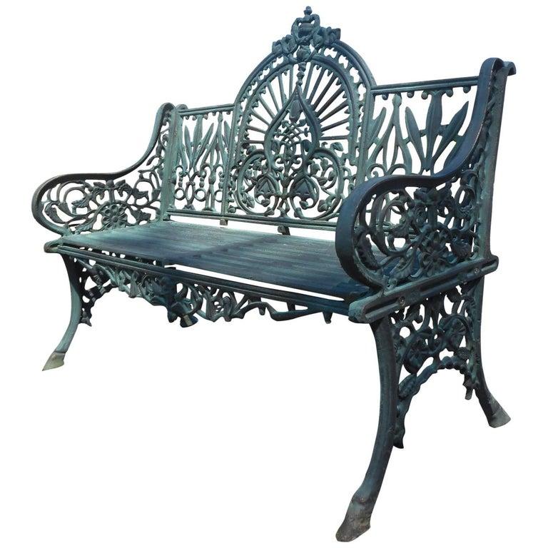 Sculpted Cast Iron Bench