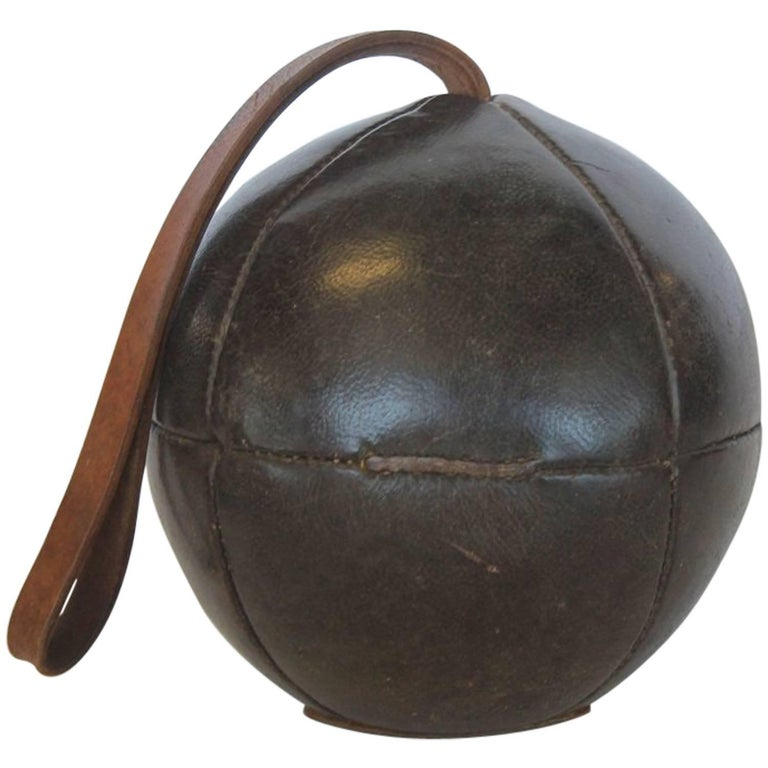 1950s German Medicine Leather Ball