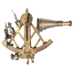 Plath Hamburg Brass Sextant Maritime Navigational Instrument, circa 1900s