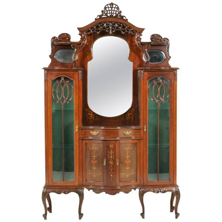 19th Century English Display Cabinet