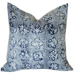 Vintage Blue Batik Accent Pillow Sham