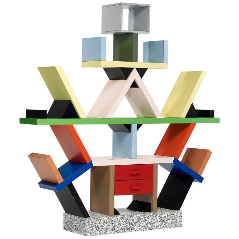 Carlton Bookcase Roomdivider by Ettore Sottsass for Memphis, 1981