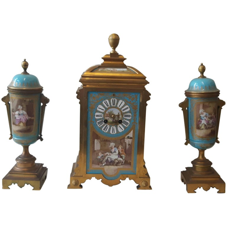 19th Century Sevres-Style Garniture For Sale