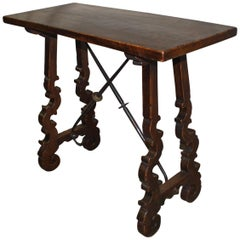 19th Century Trestle Side Table