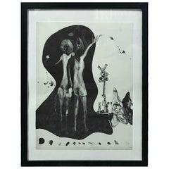 "Matsumi Kanemitsu Limited Edition Lithograph Print ""Hitchhiker Ghost"""