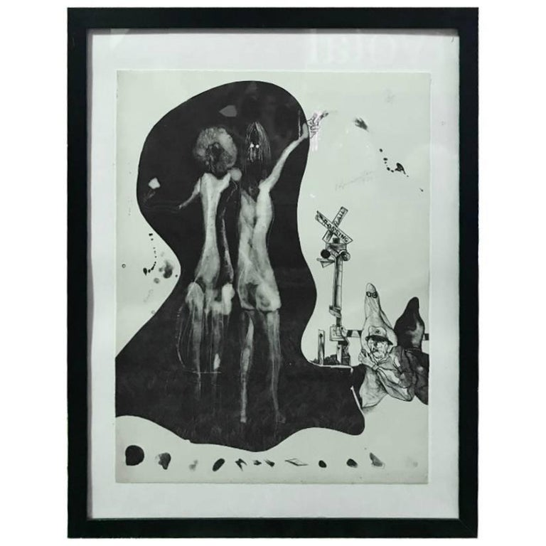 """Matsumi Kanemitsu Limited Edition Lithograph Print """"Hitchhiker Ghost"""" For Sale"""