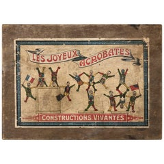 "French Early 1900s Wooden Game ""Les Joyeux Acrobates"" in it's Original Wood Box"