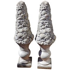 Cast Stone Columns or Topiaries