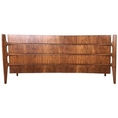 William Hinn for Urban Furniture Sculptural Walnut Eight-Drawer Dresser